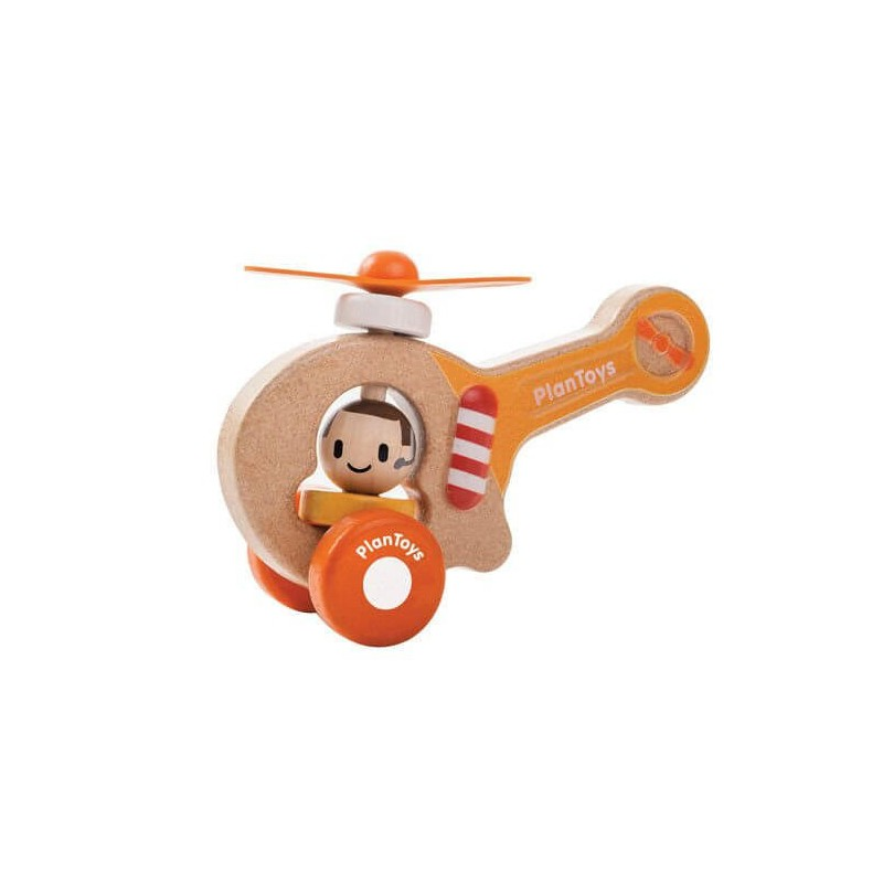 PLAN TOYS: DREWNIANY HELIKOPTER