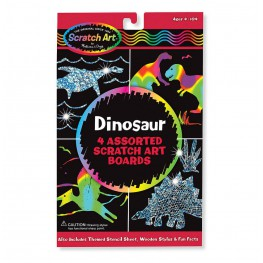 TĘCZOWA WYDRAPYWANKA DINOZAURY SCRATCH ART - MELISSA AND DOUG