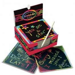SCRATCH ART TĘCZOWY MINI NOTATNIK - MELISSA AND DOUG