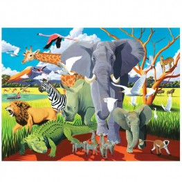 PUZZLE DZIKIE SAFARI 500 EL. - CROCODILE CREEK